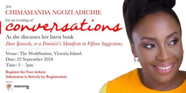 « Une soirée avec Chimamanda NGOZI ADICHIE » à Lagos