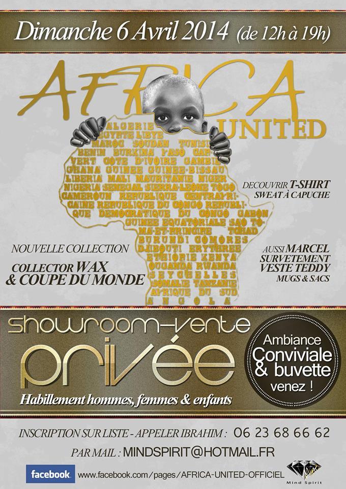 1er Showroom Vente Privée  Africa United – Mind Spirit