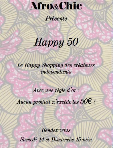 Evénement Vente Privée «Happy 50» – les 14 et 15 Juin 2014