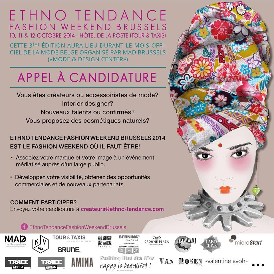 Evènement Ethno Tendance Fashion Weekend Brussels